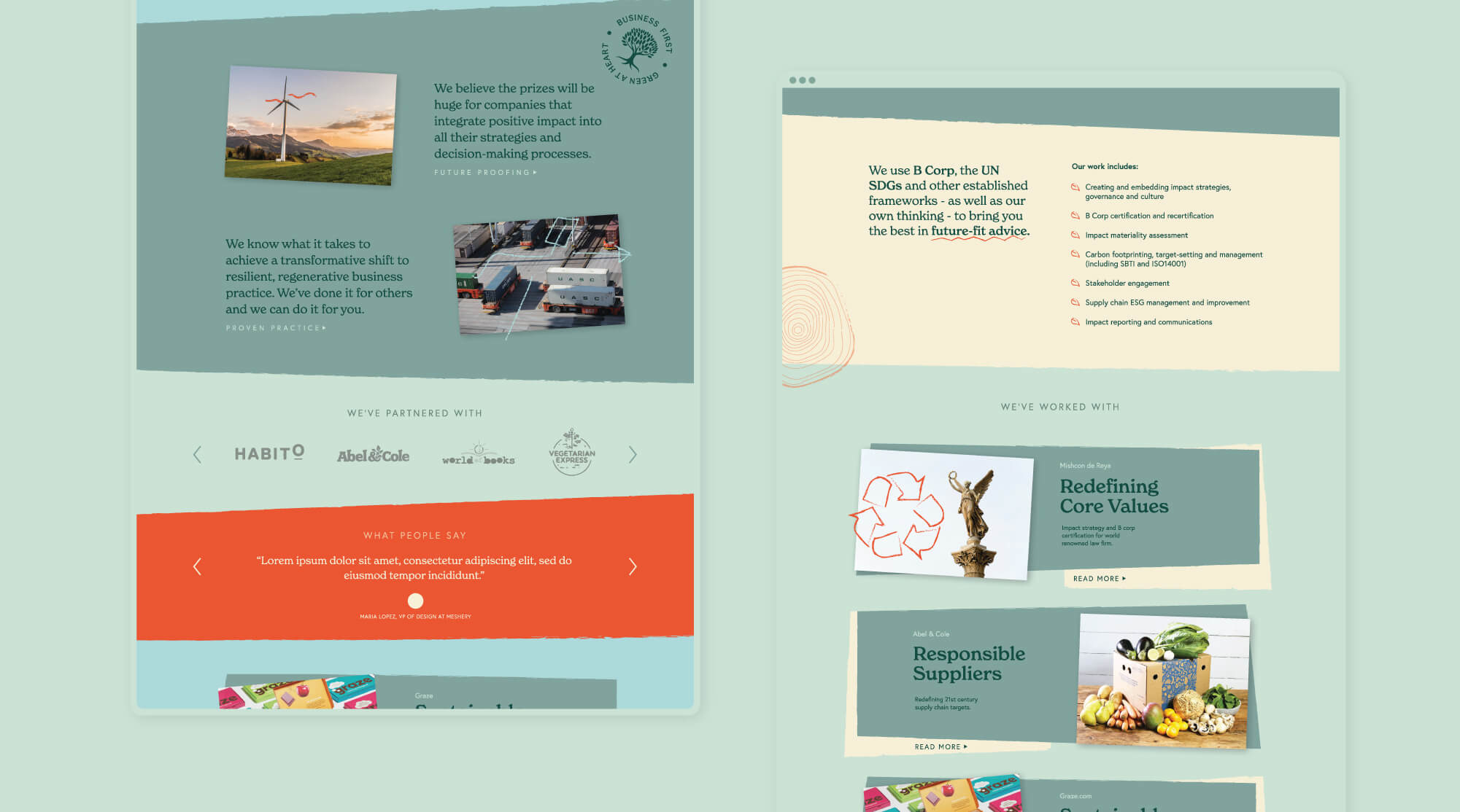 Greenheart Website Design